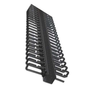 "19"" VERTICAL CABLE MANAGER 5.7' HEIGHT. 50 CABLES.  BLACK"