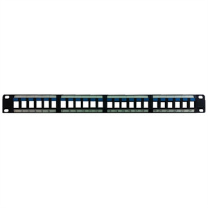 24 PORT UNLOADED HIGH-DENSITY KEYSTONE PATCH PANEL (questt_NBP-2224)
