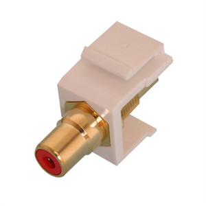 RCA KEYSTONE MODULE, GOLD W/RED INSERT, WHITE (questt_NIN-1401)