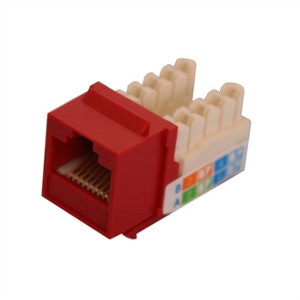 CAT5E TOOLESS KEYSTONE JACKS, 8P8C, RED, UL (questt_NKJ-5403)