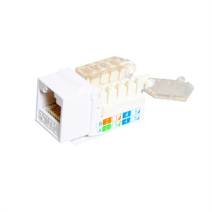CAT5E TOOLESS KEYSTONE JACKS, 8P8C, WHITE, UL (questt_NKJ-5408)