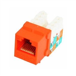 CAT5E SLIM-STYLE KEYSTONE JACKS, 8P8C, ORANGE, UL (questt_NKJ-5504)