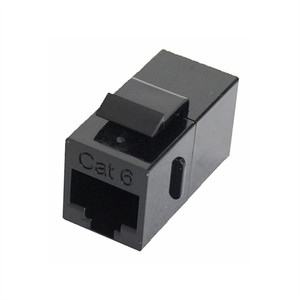 CAT6 IN LINE KEYSTONE COUPLER, BLACK (questt_NKJ-6002)
