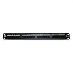 "CAT5E 19"" PATCH PANEL, 24 PORT, 8P8C, EIA568A/B, 1RU, UL (questt_NPP-5024)"