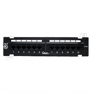 CAT6 WALLMOUNT PATCH PANEL, 12 PORT, 8P8C,  EIA568A/B, UL (questt_NPP-6012)