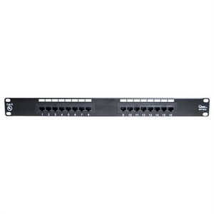 "CAT6 19"" PATCH PANEL, 16 PORT, 8P8C, EIA568A/B, 1RU, UL (questt_NPP-6016)"
