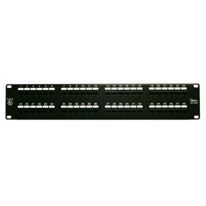 "CAT6 19"" PATCH PANEL, 48 PORT, 8P8C, EIA568A/B, 2RU, UL (questt_NPP-6048)"