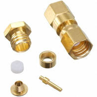 ( OS_2001-1551-003 ) Radiall SMB MALE CONN 50 OHM RG-174 Connector GOLD