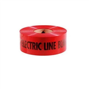 """Non-Detect Underground ""Caution Electric Line Buried"", Red, 3"" x 1,000'"" (42-101)"