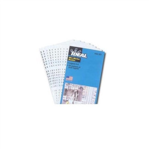 """Wire Marker Booklet, Asst A-Z, 0-15, +, -, /, 10  Each"" (44-102)"