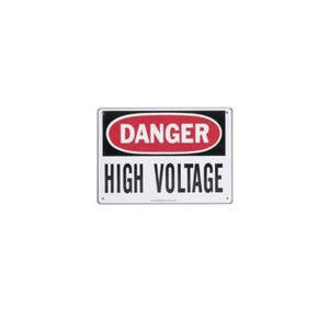 """Safety Sign, ""Danger High Voltage"", Fiberglass"" (44-862)"
