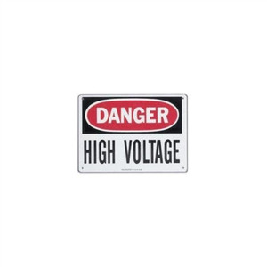 """Safety Sign, ""Danger High Voltage"", Adhesive"" (44-863)"