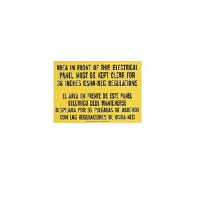 """Safety Sign, Bilingual, OSHA Regulation, Adhesive"" (44-878)"