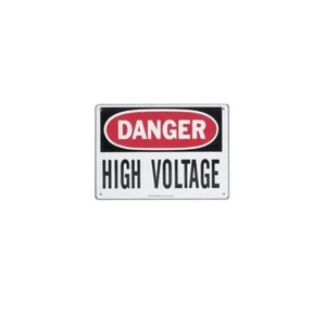 """Safety Sign, ""Danger High Voltage Keep Out"", Fiberglass"" (44-880)"