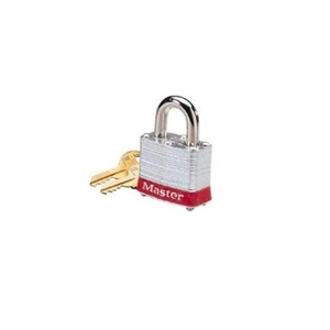 """Padlock, Steel, 3/4"" Shackle, Blue Bumper"" (44-900)"
