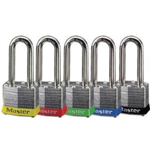 """Padlock, Steel, 2"" Shackle, Blue Bumper"" (44-901)"