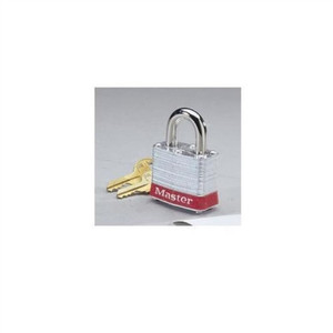 """Padlock, Steel, 3/4"" Shackle, Red Bumper"" (44-906)"