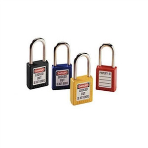 """Padlock, Xenoy®, 1-1/2"" Shackle, Red, w/Key"" (44-916)"