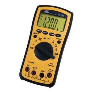 """Test-Pro® Digital Multimeter w/TRMS, Temp, Cap, Hz, Backlight"" (61-342)"