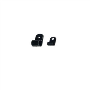"""Cable Clamp, 1/4"" x 3/8"", UV Black, #10, 100/Bag"" (IT250CCL-C0)"