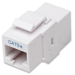 """Cat5e Inline Coupler, Keystone Type WHITE"" (504935)"