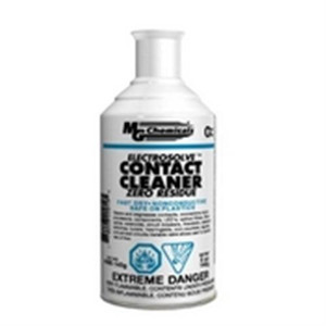 Contains isohexanes. Use when a zero residue contact cleaner is required. An effective and powerful cleaner that quickly penetrates and dissolves most soil types. For use on most electronic parts and equipment including connectors; contacts; LED's; PCB's;