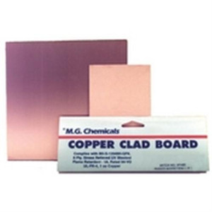 """A 1/16""""; 1/32""""; 1/64"""" laminate with 1 once copper. This flame retardant laminate is translucent in colour and made of continuous woven glass cloth impregnated with epoxy resin. Developed specifically for the circuit processing industry's re"""