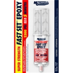 Provides 2300 psi bonding strength to paper; wood; metal; and ceramics. Conveniently packaged in a 25 ml dual syringe with a twist off cap for easy mixing. It gives good resistance to water; salt spray; inorganic acids and bases; and most organic solvents