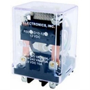 RELAY DPDT 10A 24VDC MAGNETIC LATCHING .187 QUICK CONNECT TERMINALS DUAL COIL VERSION (R50-11D10-24C)