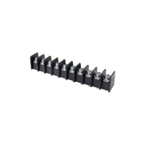 TERMINAL BLOCK BARRIER 10 POLE 9.50MM PITCH 300V 25A PC MOUNT TERMINALS 22-12AWG WIRE RANGE (25-B200-10)