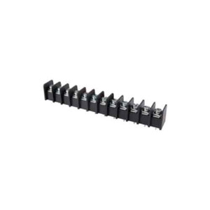 TERMINAL BLOCK BARRIER 12 POLE 9.50MM PITCH 300V 25A PC MOUNT TERMINALS 22-12AWG WIRE RANGE (25-B200-12)