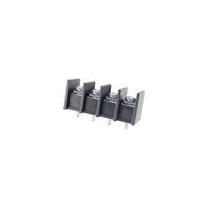 TERMINAL BLOCK BARRIER 4 POLE 11.00MM PITCH 300V 25A PC MOUNT TERMINALS 22-12AWG WIRE RANGE (25-B400-04)