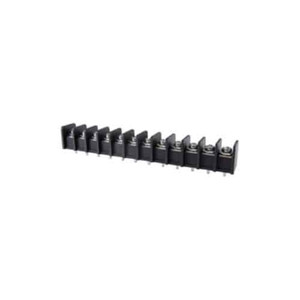 TERMINAL BLOCK BARRIER 12 POLE 11.00MM PITCH 300V 25A PC MOUNT TERMINALS 22-12AWG WIRE RANGE (25-B400-12)