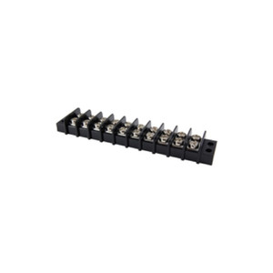 TERMINAL BLOCK BARRIER DUAL ROW 10 POLE 9.50MM PITCH 300V 20A PANEL MOUNT 22-14AWG WIRE RANGE (25-B500-10)