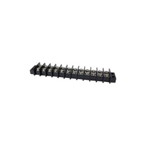 TERMINAL BLOCK BARRIER DUAL ROW 12 POLE 11.00MM PITCH 300V 25A PANEL MOUNT 22-12AWG WIRE RANGE (25-B600-12)