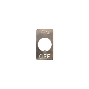 INDICATOR PLATE ON/OFF (54-902)