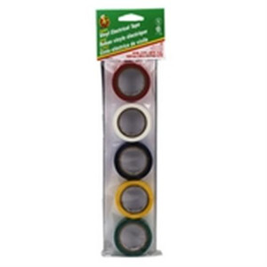 """Duck Brand Assorted Color Electric Tape .75 x 12 ft., 5/pk."" (LT-5CP)"