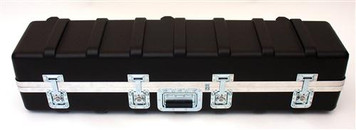 Heavy-Duty Polyethylene ATA Cases with Recessed Hardware. The exterior shell is tough impact resistant HMW polyethylene. Heavy-Duty aluminum rim and gasket; padlock loops; full length piano hinge and spring loaded handle. Solid foam included.This series