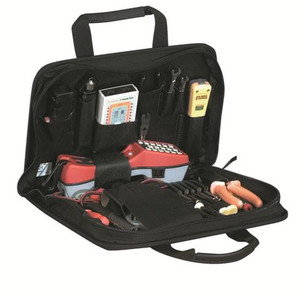"Compact and economical; the 630ZT Telecom case still includes a hook and loop strap ""buttset"" holder along with 20 sewn tool pockets and 1 pouch. Outside has 2 pockets with hook and loop flaps and a full-length document pocket to provide additional storag"