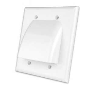Vanco Wall Plate Bulk Cable Low Profile Almond (VANWPBW2AX)