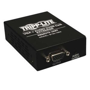 """VGA with Audio over Cat5/Cat6 Extender, Box-Style Receiver, 1920x1440 at 60Hz, Up to 1000-ft."" (tripp_B132-100A)"