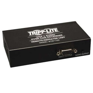 """VGA with Audio over Cat5/Cat6 Extender, Box-Style Repeater, 1920x1440 at 60Hz, Up to 1000-ft."" (tripp_B132-110A)"