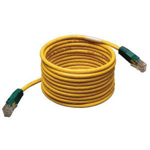 """""""Cat5e 350MHz Molded Cross-over Patch Cable (RJ45 M/M) - Yellow, 10-ft."""" (tripp_N010-010-YW)"""