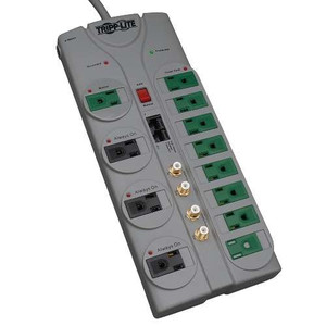 """Eco-Surge 12-Outlet Home/Business Theater Surge Protector, 10-ft. Cord, 3600 Joules - Accommodates 8 Transformers"" (tripp_TLP1210SATG)"