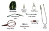 """""""Directional Tip for 1/4"""" Fiberglass Wire Fishing Kits, allows user to walk fish sideways in ceilings"""" (besm_FIB111)"""
