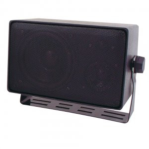( speco_DMS3TS ) Weather Resistant 3 Way Speakers w/ Transformer  Black