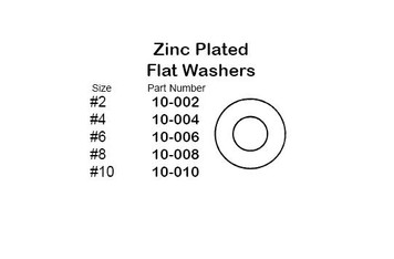 """Philmore 10-004 Steel Zinc Plated Flat Washer, #4, 30 Pack"" (lkg_10-004)"