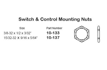 """Philmore 10-133 Control Mount Nut, 3/8-32 x 1/2 x 3/32"", 15 Pack"" (lkg_10-133)"