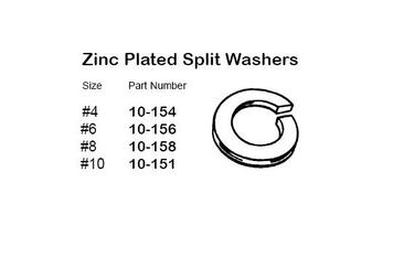 """Philmore 10-156 Steel Zinc Plated Split Washer, #6, 50 Pack"" (lkg_10-156)"