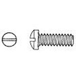 """Philmore 10-485 Steel Round Head Slotted Screw, 8-32 x 1/2"", 30 Pack"" (lkg_10-485)"